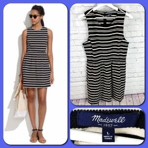 Madewell Afternoon Black & White Textured Dress